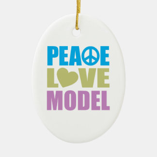 Peace Love Model Ornament