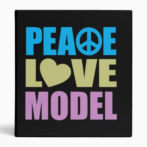 Peace Love Model Vinyl Binders