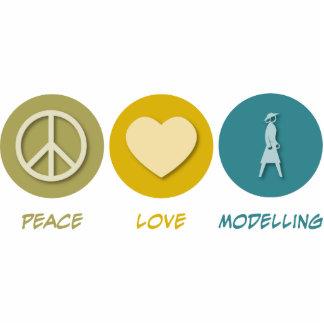 Peace Love Modelling Photo Sculpture Ornament