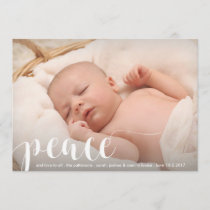 Peace, Love Modern Classic Christmas Holiday Photo