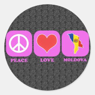 Peace Love Moldova Stickers