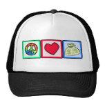 Peace, Love, Money Mesh Hat