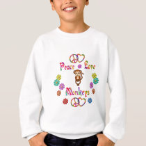 PEACE LOVE MONKEYS SWEATSHIRT