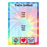 "Peace, Love, Monster 5"" X 7"" Invitation Card"