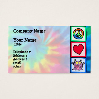 Peace, Love, Monster Business Card