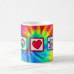 Peace, Love, Monster Mug