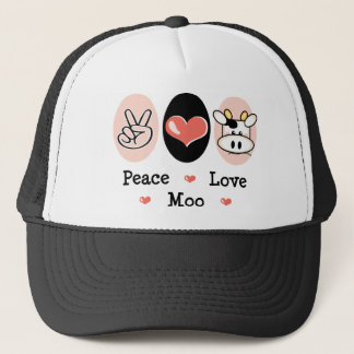 Peace Love Moo Cow Cap