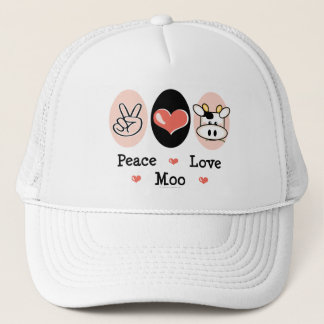 Peace Love Moo Cow Hat