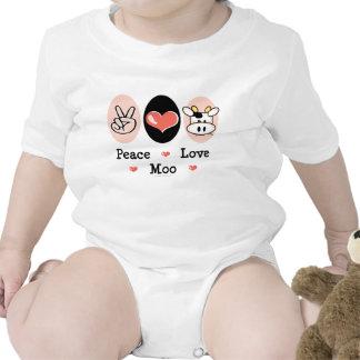 Peace Love Moo Cow Infant Creeper