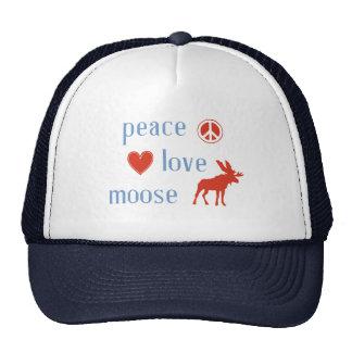 Peace Love Moose Trucker Hat