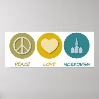 Peace Love Mormonism Poster