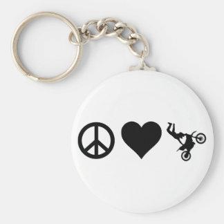 Peace Love Motocross Keychain