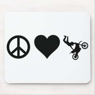 Peace Love Motocross Mouse Pad