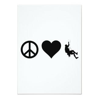 Peace Love Mountain Climbing Card