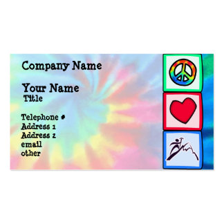 Peace, Love, Mountain Climbing Double-Sided Standard Business Cards (Pack Of 100)