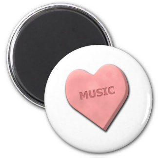 Peace, Love, Movies and Music 2 Inch Round Magnet