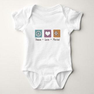 Peace Love Movies Baby Bodysuit