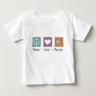 Peace Love Movies Baby T-Shirt