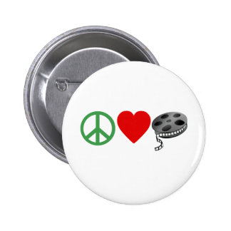 Peace Love Movies Buttons
