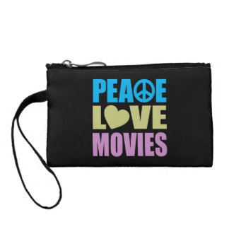 Peace Love Movies Coin Wallet