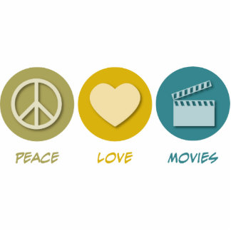 Peace Love Movies Cutout
