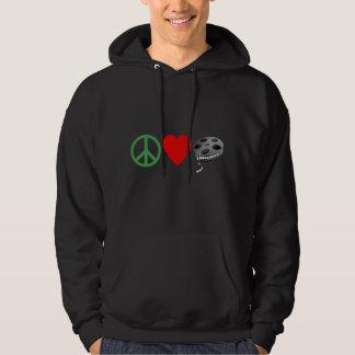 Peace Love Movies Hoodie