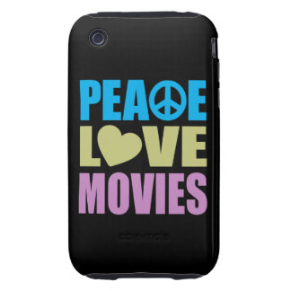 Peace Love Movies iPhone 3 Tough Cover