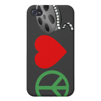 Peace Love Movies iPhone 4/4S Cover