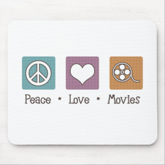 Peace Love Movies Mouse Pad
