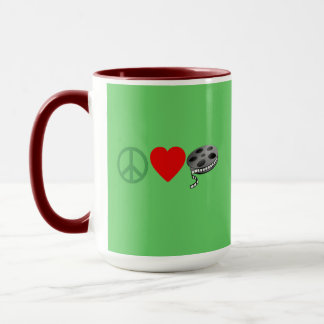 Peace Love Movies Mug