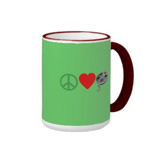 Peace Love Movies Coffee Mug