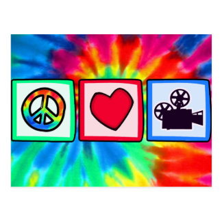 Peace, Love, Movies Post Cards