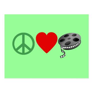 Peace Love Movies Postcard
