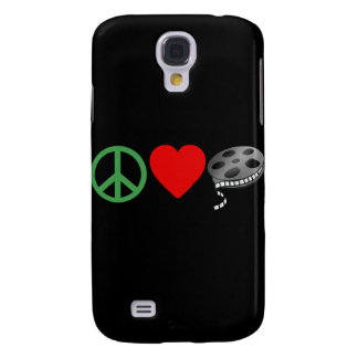 Peace Love Movies Samsung Galaxy S4 Cover