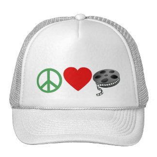 Peace Love Movies Trucker Hat