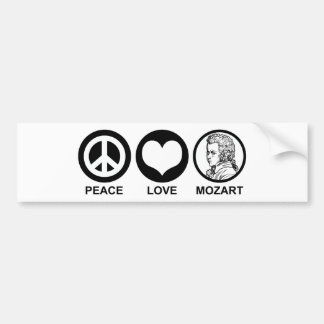 Peace Love Mozart Bumper Sticker