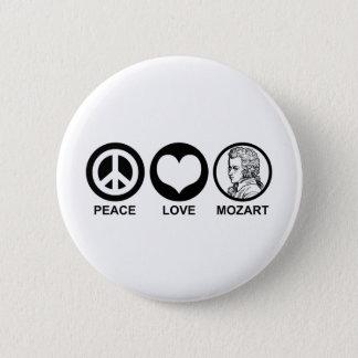 Peace Love Mozart Button