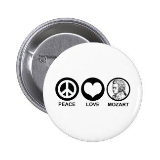 Peace Love Mozart 2 Inch Round Button