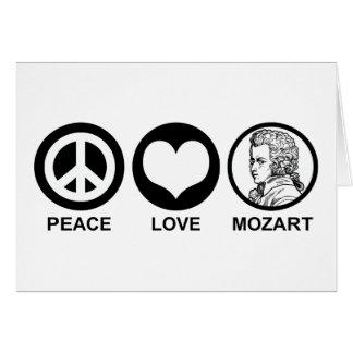 Peace Love Mozart Card