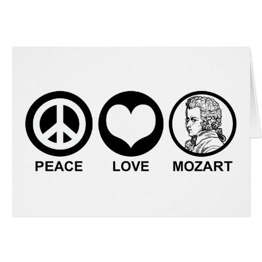 Peace Love Mozart Greeting Card