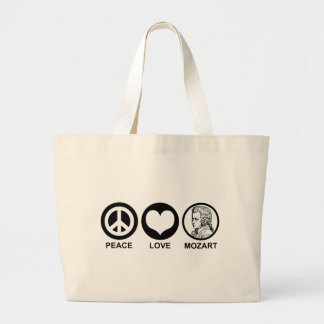 Peace Love Mozart Jumbo Tote Bag