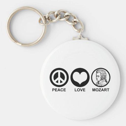 Peace Love Mozart Keychain