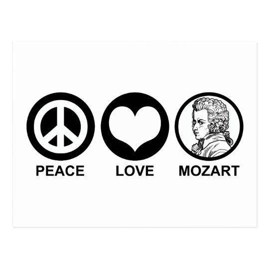 Peace Love Mozart Postcard