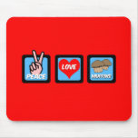 peace love muffins mouse pad