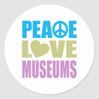 Peace Love Museums Classic Round Sticker