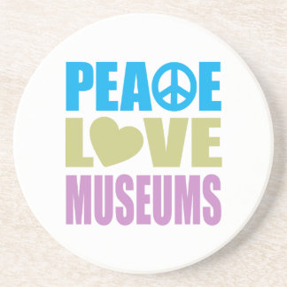 Peace Love Museums Drink Coasters
