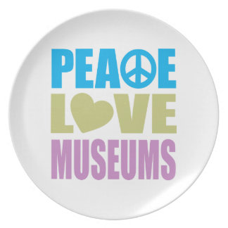 Peace Love Museums Plate