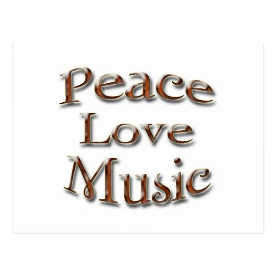 Peace Love Music5 Postcard