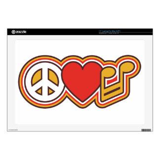 "Peace Love Music 17"" Laptop Skin For Mac & PC"