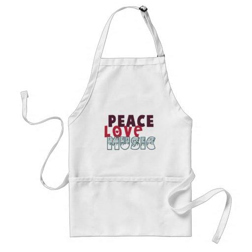 Peace Love Music Apron